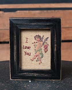 I Love You Cupid Stitchery