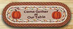 Come Gather Pumpkin Table Runner