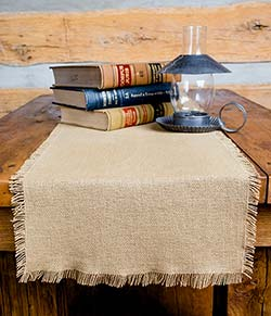 Deluxe Burlap Table Runner - 90 inch