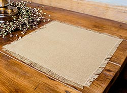 Deluxe Burlap Tablemats (Set of 2)