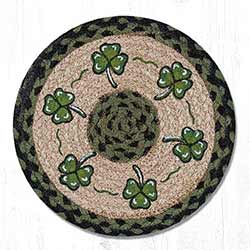 Shamrock Braided Tablemat - Round (10 inch)