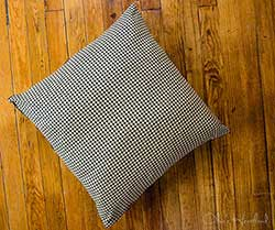 Jamestown Black & Tan Check Fabric Euro Sham