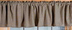 Black Checkered Valance