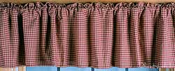 Burgundy Checkered Valance