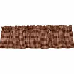 Patriotic Patch Plaid Valance