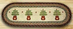 Feather Tree Braided Table Runner - 36 inch