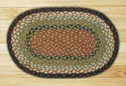Burgundy & Mustard Braided Tablemat