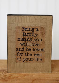 Family Box Sign - You Will Be Loved