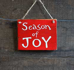 Season of Joy Sign Ornament