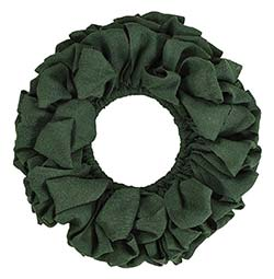 Burlap Wreath - Green (20 inch)
