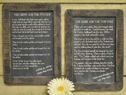 Hare and the Tortoise Folk Tale Blackboard