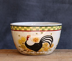 Rooster Ceramic Bowl
