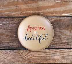 America the Beautiful Plate