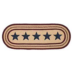 Potomac Braided Table Runner with Stars, 36 inch