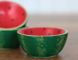 Mini Wooden Bowl - Watermelon