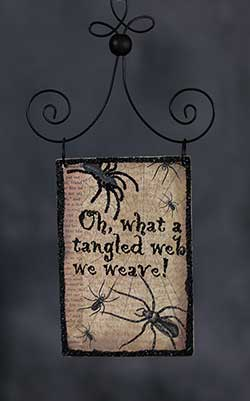 Tangled Web Postcard Picture Ornament