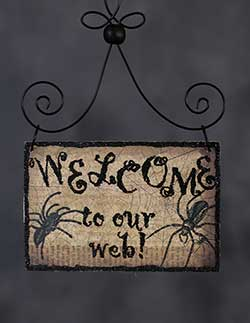 Welcome Halloween Postcard Picture Ornament