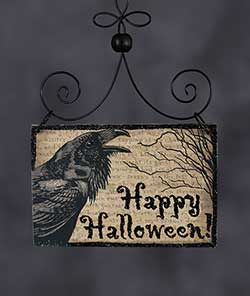 Happy Halloween Postcard Picture Ornament