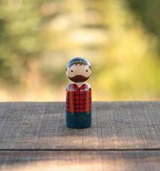 Lumberjack Peg Doll (or Ornament)