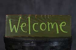 Welcome Reclaimed Wood Sign - Greens
