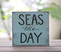 Seas the Day Reclaimed Wood Sign