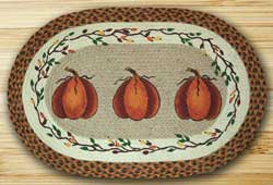 Harvest Pumpkin Braided Rug