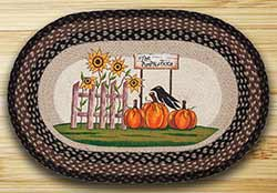 Pumpkin Patch Sunflower Braided Rug