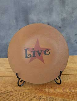 Live Primitive Plate with Star