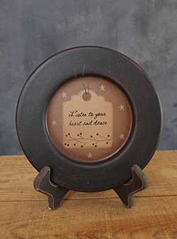 Listen to Your Heart Primitive Plate
