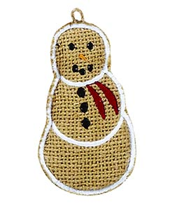 Burlap Snowman Ornaments (Set of 6)