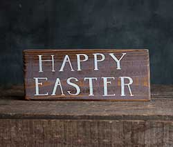 Happy Easter Hand Lettered Wood Sign - Purple