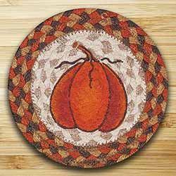 Harvest Pumpkin Braided Trivet (7 inch)