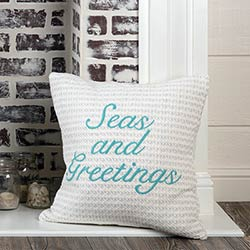 Arielle Seas and Greetings Throw Pillow Cover
