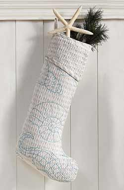 Arielle Beach Christmas Stocking, Extra Long