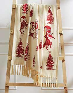 Creature Carol Woven Christmas Throw
