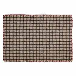 Weston Gray Plaid Placemats (Set of 6)