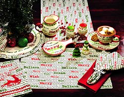 Christmas Wishes 36 inch Table Runner