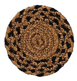 Ebony Black and Tan Braided Coaster