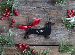 Dachshund Christmas Ornament (Personalization)