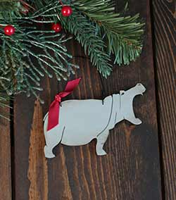 Hippo Ornament (Free personalization!)