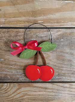 Cherries Personalized Ornament
