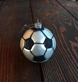 Glass Soccer Ball Ornament