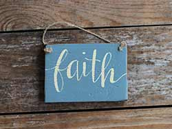 Faith Small Hand Lettered Sign (Custom color)