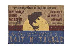 Bait N' Tackle Braided Rug