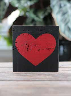 Rustic Heart Wood Sign