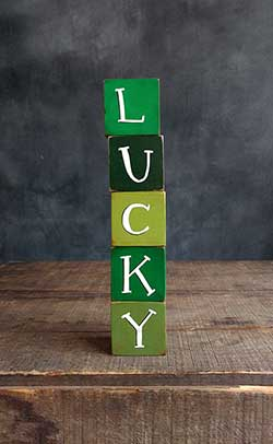 Lucky Wood Blocks Set