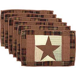 Abilene Star Placemats (Set of 6)