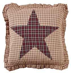 Bradford Star Applique Fabric Pillow Cover