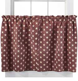 Stargazer Pino Cafe Curtains (36 inch Tiers)