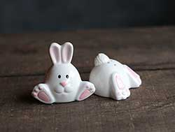 Bottom Up Bunny Salt & Pepper Shaker Set
